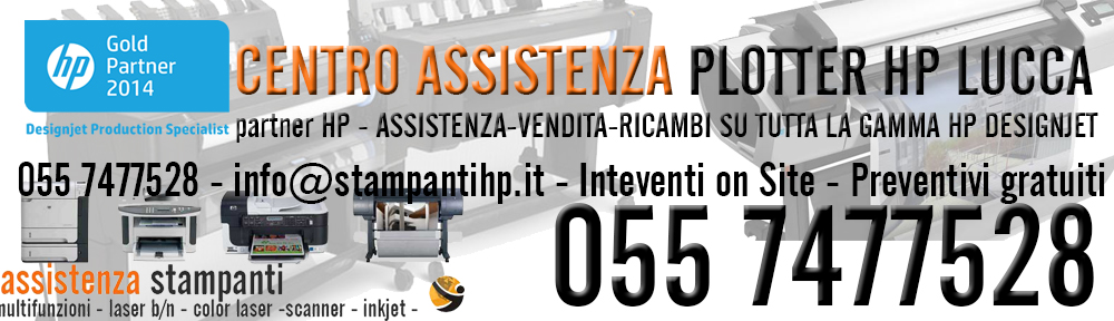 assistenza plotter hp lucca