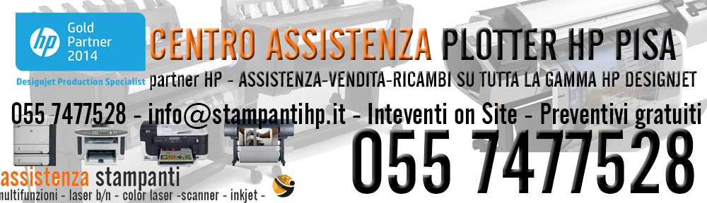 assistenza plotter hp pisa