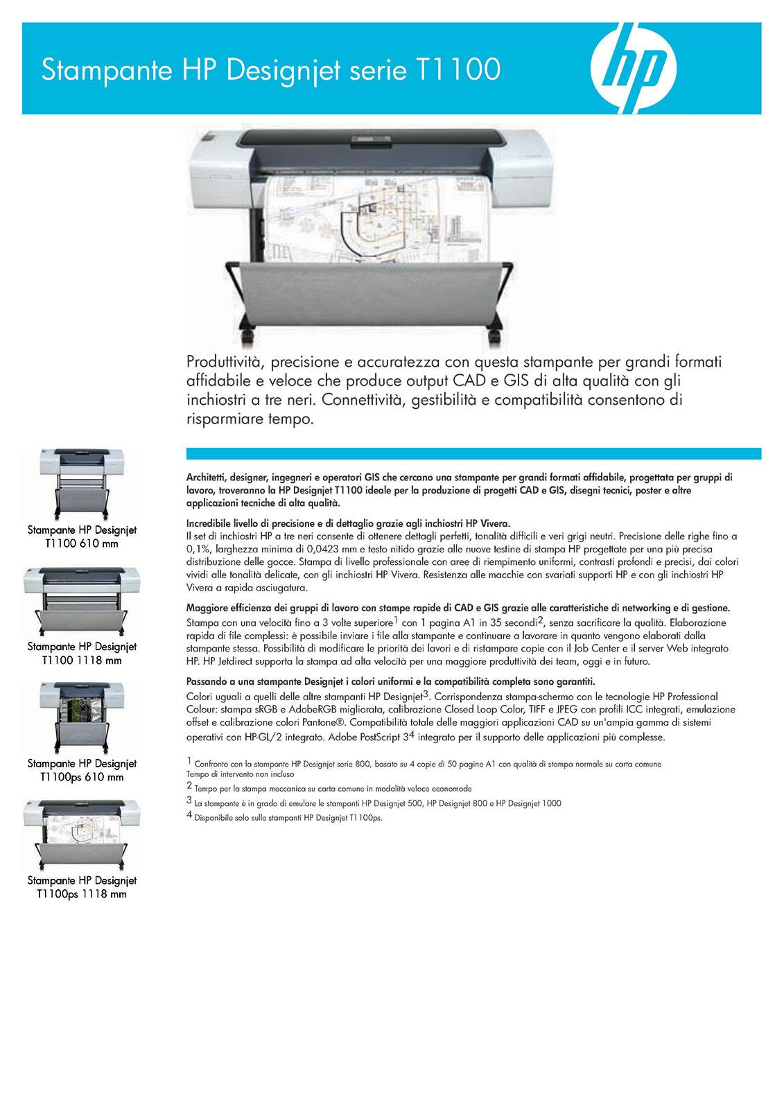 assistenza plotter hp designjet t1100 roma